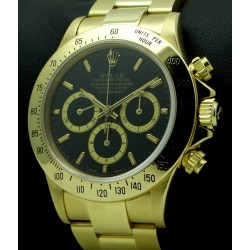 "Daytona Zenith, 18 kt Yellow Gold, ""6 inverted"", ref.16528"
