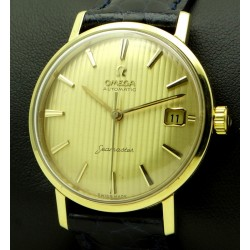 Seamaster yellow gold with tapisserie dial, made in 1961