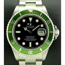 Submariner Green Bezel, ref. 16610LV Mark I, Fat Four, Full set