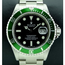 Submariner Green Bezel, ref. 16610LV Mark I, NOS, Full set