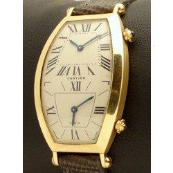 Tonneau Dual Time 18kt Yellow gold