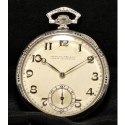 "Pocket Watch Style ""Murat"", made in 1926, 18K White Gold"