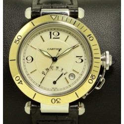 Pasha Power Reserve Steel and Gold 38 mm, Ref. W3101255