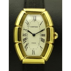 Tonneau Bambou 18 KT Yellow Gold