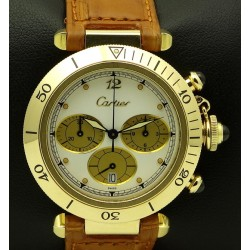 Pasha Chrono 18 kt yellow gold, full set
