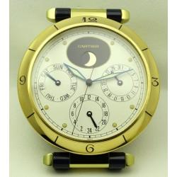 Pasha Desk Clock, gold plated