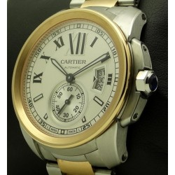 Calibre de Cartier, steel and rose gold