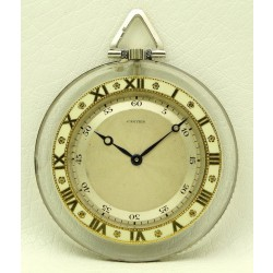Cartier Pocket Watch, Rock Crystal, from twenties