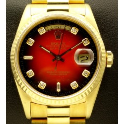 Day Date, 18kt yellow gold, ref. 18238, degrade diamond dial