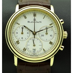 Villeret Chronograph 18 kt yellow gold, full set