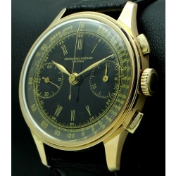 Vintage Chronograph 18 kt pink gold, glossy two tone dial