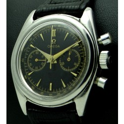 Vintage Chronograph Stainless Steel, black dial