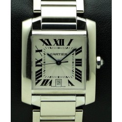 Tank Francaise GM 18 kt white gold, full set