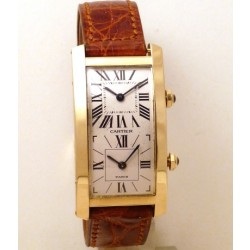 Tank Cintree Double Time Zone 18kt yellow gold