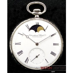 POCKET WATCH SILVER WITH MOON FASE