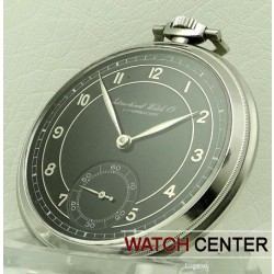 POCKET WATCH STAILESS STEEL BLACK DIAL