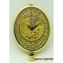 Vintage Oval Skeleton Pendant Watch