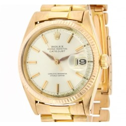 Oyster Perpetual Datejust Ref. 1601 Rose Gold from 1962 with Gay Freres bracelet