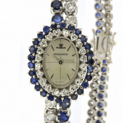 Vintage Lady jewel wristwatch, 18kt White gold