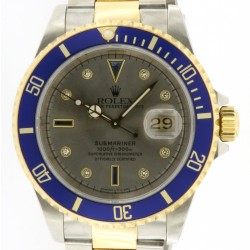 Submariner Date steel and yellow gold Ref. 16613, Sultan dial