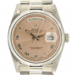Day-Date 18kt White Gold, ref.18039, Pink Dial