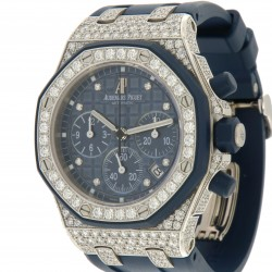 Royal Oak Offshore Lady 18 kt white gold and diamonds ref. 26092CK, full set
