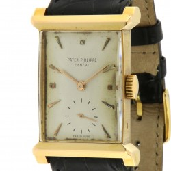 Rectangular Shape in rose gold, ref. 2404, made in 1951