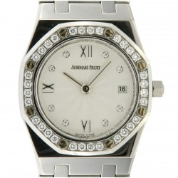 Royal Oak Lady, Stainless steel and diamonds Ref.67372ST