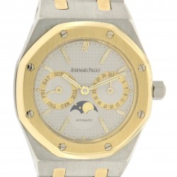 Royal Oak DayDate Moon phases, stainless steel and 18kt yellow gold, Ref. 25594SA