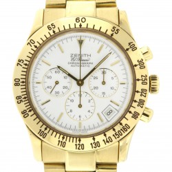 Chronograph El Primero Porcelain Dial, 18 kt yellow gold from 90s