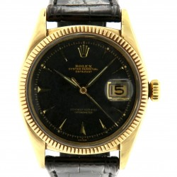 """Datejust """"Ovettone"""", ref 6305, Yellow Gold, black dial"""