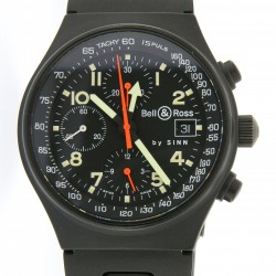 Pilot Technical Chronograph, matte-black plated steel from 90s