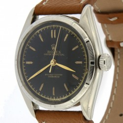 Big Bubble Back Ref.6085, stainless steel case, black dial from 1951
