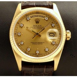 Day Date REF. 18038 Yellow Gold with Diamonds Dial