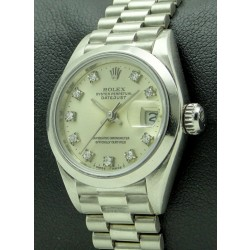 Lady's Datejust, Platinum and Diamonds
