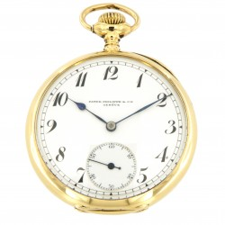 Pocket Watch 18K Yellow Gold, made in 1910 circa, full set