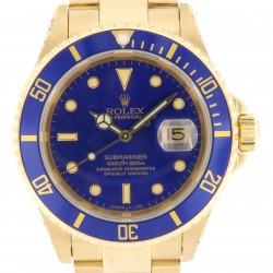 Submariner Date, 18kt Yellow Gold, Ref. 16618, Purple Dial, from year 1993, with Service Rolex