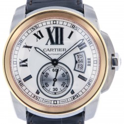 Calibre de Cartier, Steel and Rose Gold, Like New