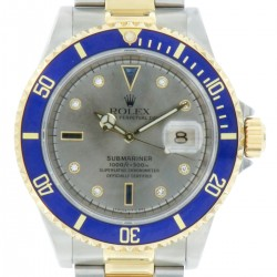 Submariner Date, Steel and Yellow Gold Ref. 16613, Sultan dial, full set