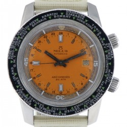 Archimedes Vintage World Time Stainless Steel, from 70s