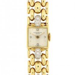 Vintage Lady Jewel Watch, 18kt Yellow Gold and Diamonds from '40s