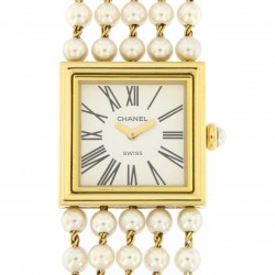 Lady Jewel wristwatch, Pearls and 18kt Yellow gold