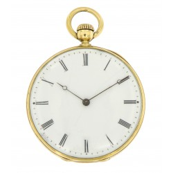 Pocket Watch 18k Yellow Gold, Enamel dial, from 1856
