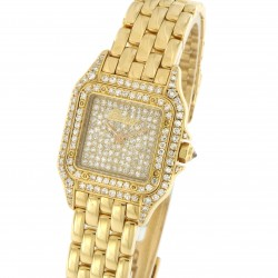 Panthere Lady PM ref. 8057915, 18 kt yellow gold Pave Dial, Bezel and Case Diamonds Set, Full set 1992