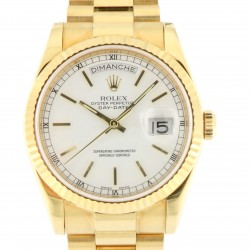 Day-Date ref.118238, 18kt Yellow Gold, White Dial, Full Set