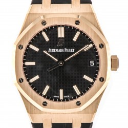 Royal Oak Jumbo 41mm 18kt Rose Gold, ref. 15500OR, Black Dial, New