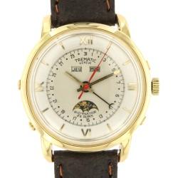 Triple calendar Moonphase, 18kt yellow gold, Felsa Bidynator watch from 50s