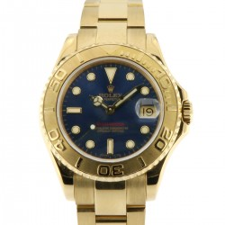 Yacht Master 18kt yellow gold, ref.68628 full set from 1999, blue dial