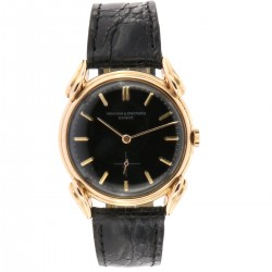 Vintage collection, 18 kt pink gold from fifties, Black Dial