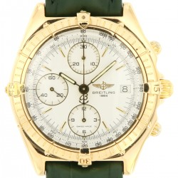 Chronomat, 18 kt yellow gold, ref. 81950, White Dial
